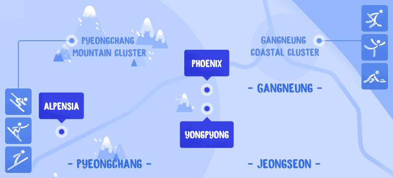 PyeongChang Winter Olympics Venue Map